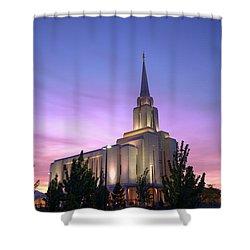 Oquirrh Mountain Temple Iv Shower Curtain