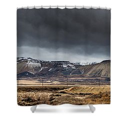 Oquirrh Mountains Winter Storm Panorama 2 - Utah Shower Curtain
