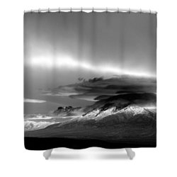 Shower Curtain featuring the photograph Oquirrh Range Utah by Ron White
