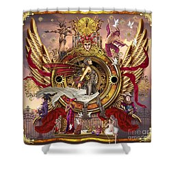 Oracle Of Visions Shower Curtain by Ciro Marchetti