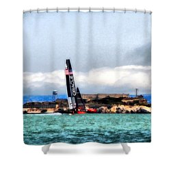 Oracle Team Usa And Alcatraz Shower Curtain