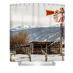 Orange And Yellow Windmill Shower Curtain by Sue Smith