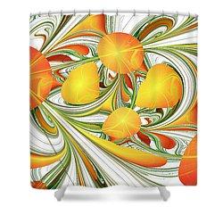 Orange Attitude Shower Curtain