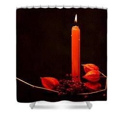 Orange Beauty Shower Curtain by Alexander Senin