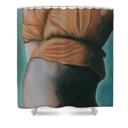 Orange Blouse Shower Curtain by Mary Ann  Leitch