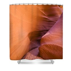 Orange Canyon Shower Curtain