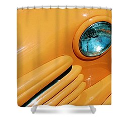 Orange Car Shower Curtain