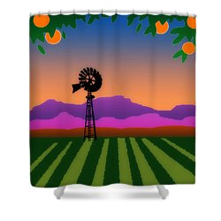 Orange County Shower Curtain