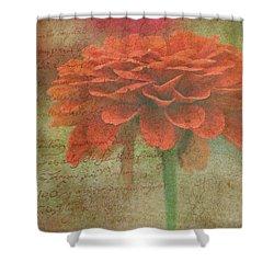 Orange Floral Fantasy Shower Curtain by Kay Novy