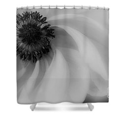 Orange Flower In Black And White Shower Curtain