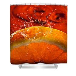 Orange Freshsplash 2 Shower Curtain by Steve Gadomski