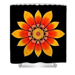Orange Gazania I Flower Mandala Shower Curtain by David J Bookbinder