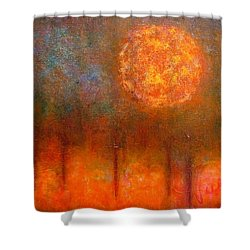 Orange Glow Shower Curtain by Jim Whalen