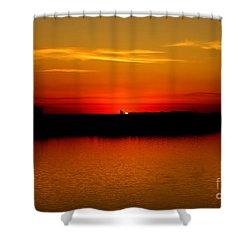 Orange Glow Shower Curtain by Lori Tordsen