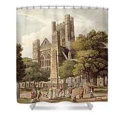 Orange Grove, From Bath Illustrated Shower Curtain by John Claude Nattes