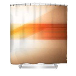orange I Shower Curtain by Hannes Cmarits