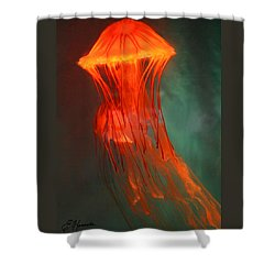 Orange Jellies Shower Curtain by Ellen Henneke