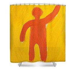 Orange Person Shower Curtain
