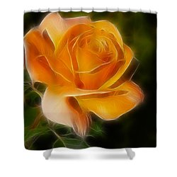Orange Rose 6292-fractal Shower Curtain by Gary Gingrich Galleries