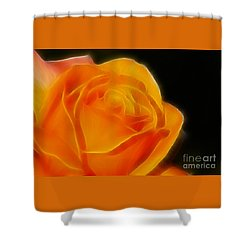 Orange Rose 6308 Shower Curtain by Gary Gingrich Galleries