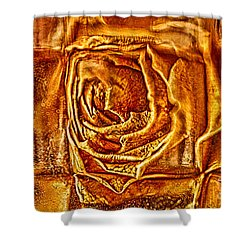 Shower Curtain featuring the photograph Orange Rose by Omaste Witkowski