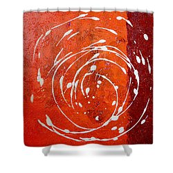Orange Swirl Shower Curtain