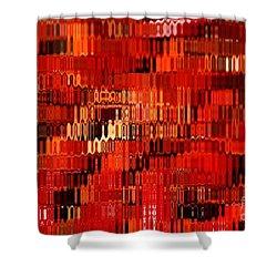 Orange Under Glass Abstract Shower Curtain by Carol Groenen
