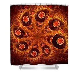 Orange Vision Shower Curtain by Anastasiya Malakhova