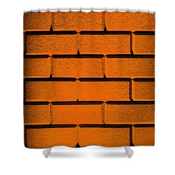 Orange Wall Shower Curtain by Semmick Photo