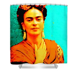 Orange You Glad It Is Frida Shower Curtain
