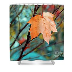 Orange You Gonna Fall Shower Curtain