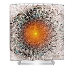 Orange Zone Shower Curtain