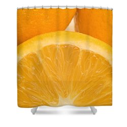 Oranges Shower Curtain by Darren Greenwood