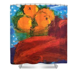 Shower Curtain featuring the painting Oranges by Donald J Ryker III