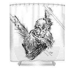 Orangutan Baby 2 Shower Curtain