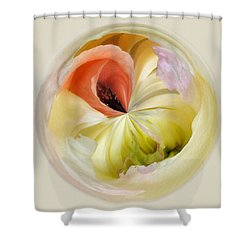 Orb 4... Poppy Meets Peony Shower Curtain