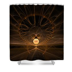 Shower Curtain featuring the digital art Orb by GJ Blackman