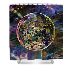Orb Of Roses Past Shower Curtain