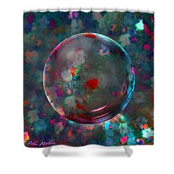 Orbed In Spring Blossom Shower Curtain