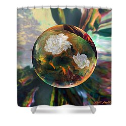 Shower Curtain featuring the painting Oriental Abstract  by Robin Moline