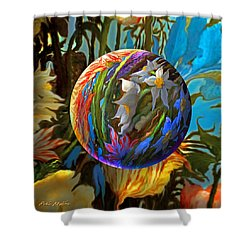 Orbing Aloha Lei Shower Curtain