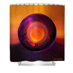 Orbing An Evening Sunset Shower Curtain