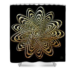 Shower Curtain featuring the digital art Orbital Elements by Manny Lorenzo