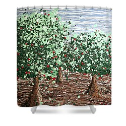Orchard 4 Shower Curtain by Ric Bascobert