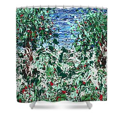 Orchard Number Five Shower Curtain by Ric Bascobert