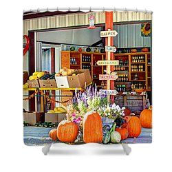 Orchard Valley Market Shower Curtain