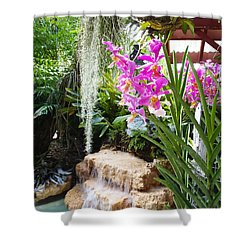 Orchid Garden Shower Curtain by Carey Chen