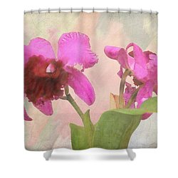 Orchid In Hot Pink Shower Curtain