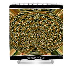 Shower Curtain featuring the photograph Orchid Polar Coordinate by Rose Santuci-Sofranko