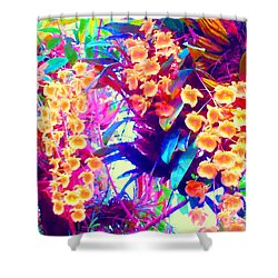Orchid Splash Shower Curtain by Ann Johndro-Collins